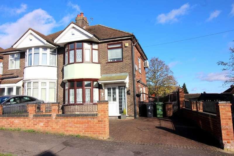 3 Bedrooms Semi Detached House for sale in Exton Avenue, Luton, Bedfordshire, LU2 0LJ