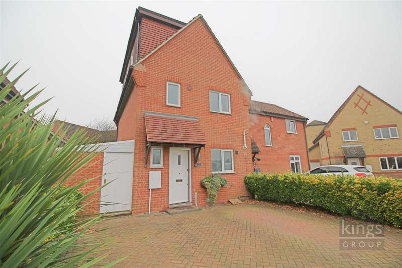 4 Bedrooms Semi Detached House for sale in Coalport Close, Church Langley