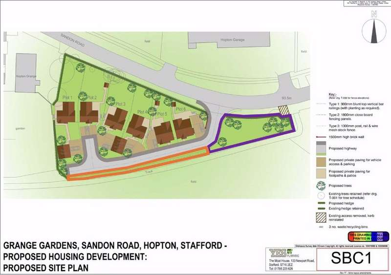 Land Commercial for sale in Sandon Road, Hopton