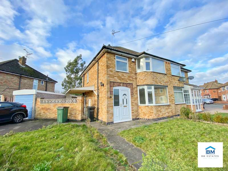 3 Bedrooms Semi Detached House for rent in Repton Road, Wigston, LE18