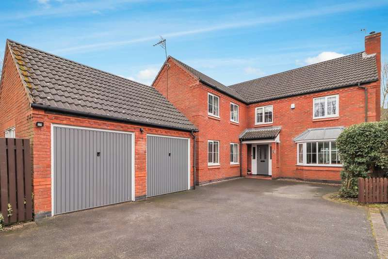 5 Bedrooms Detached House for sale in Rufford Close, Loughborough