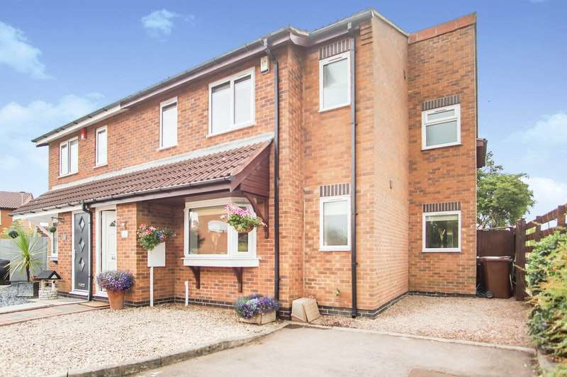 4 Bedrooms Semi Detached House for sale in Martin Drive, Syston, Leicestershire, LE7