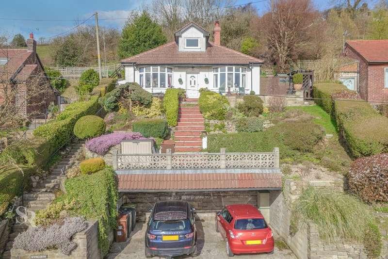 3 Bedrooms Detached Bungalow for sale in Hague Bar Road, Hague Bar, New Mills, High Peak, SK22 3AT