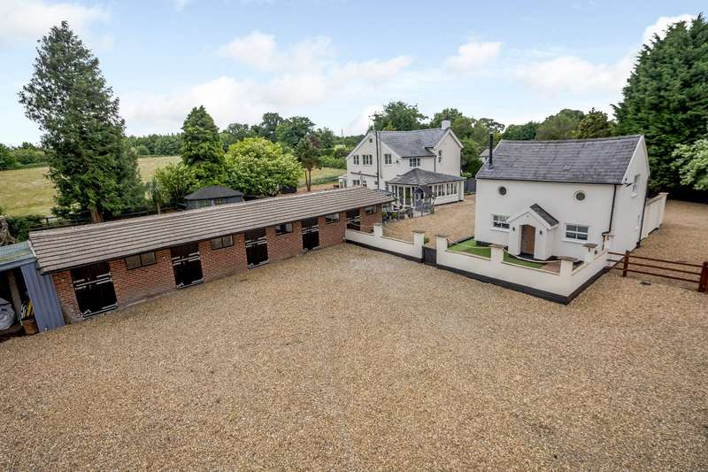 4 Bedrooms Equestrian Facility Character Property for sale in Weaverham Road, Gorstage, Northwich, Cheshire