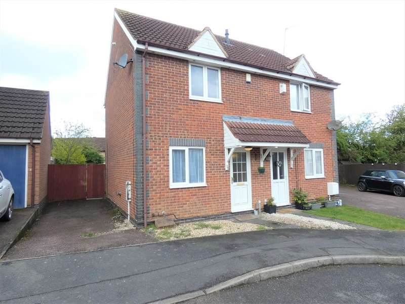 2 Bedrooms Semi Detached House for sale in Trefoil Close, Hamilton, Leicester