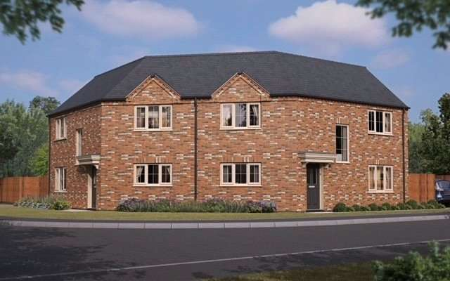 3 Bedrooms Semi Detached House for sale in Flaxwell Fields, Lincoln Road, Ruskington, Sleaford, NG34