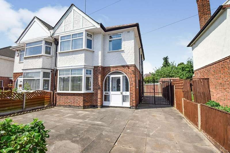 3 Bedrooms Semi Detached House for sale in Gimson Road, Leicester, LE3