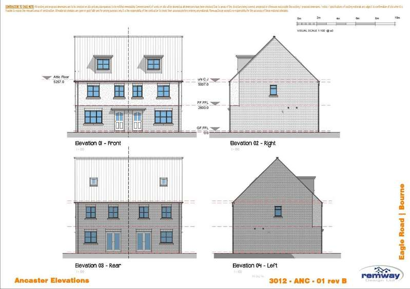 4 Bedrooms Semi Detached House for sale in PLOT THREE, Falcon Way, Bourne