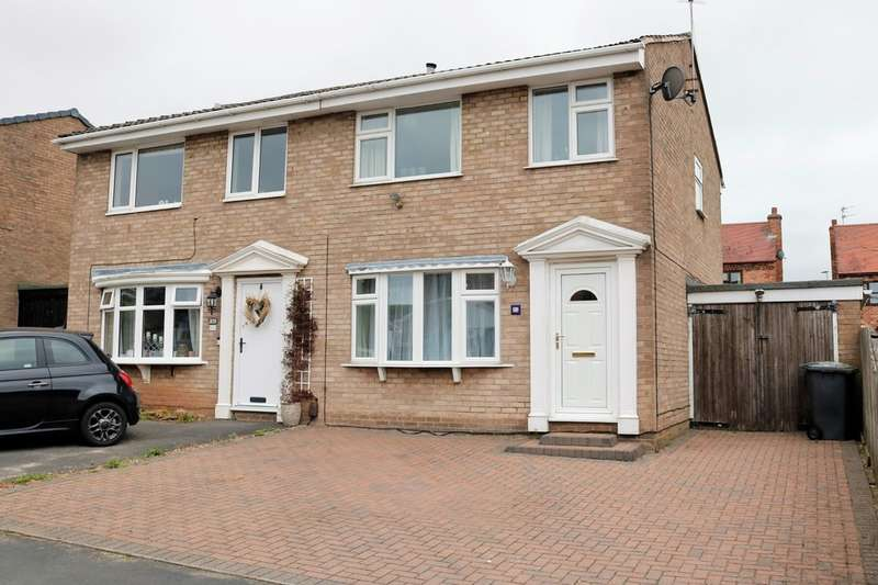3 Bedrooms Semi Detached House for sale in Canterbury Drive, Ashby-de-la-Zouch