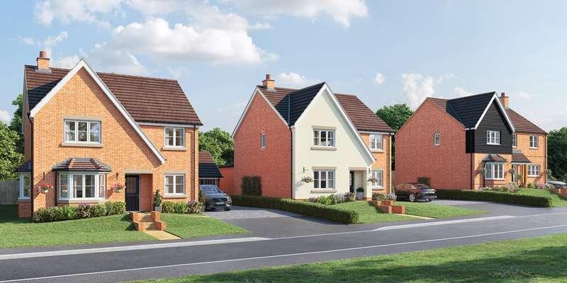 4 Bedrooms Detached House for sale in Woodbury Gardens, Park Road, Moggerhanger, Bedford, MK44