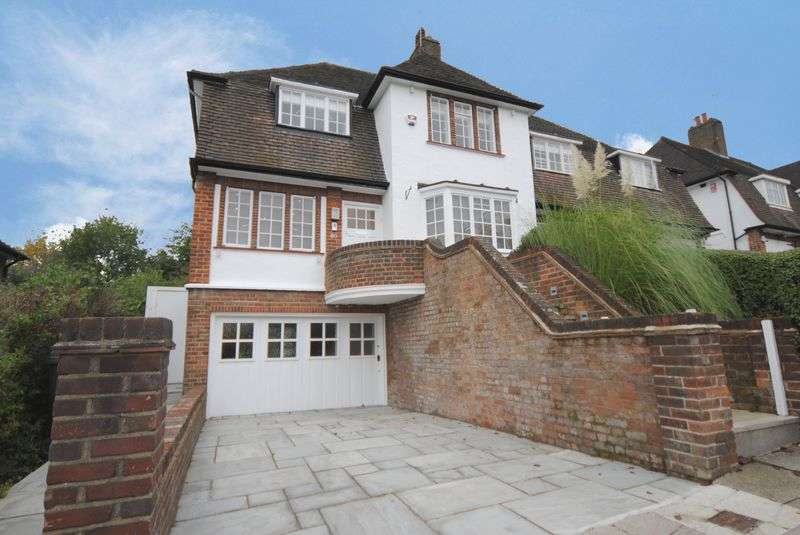 4 Bedrooms Semi Detached House for sale in Hill Top, Hampstead Garden Suburb, London NW11