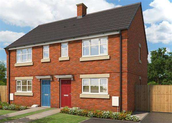 3 Bedrooms Semi Detached House for sale in The Meadowsweet, Briars Walk, Cannock