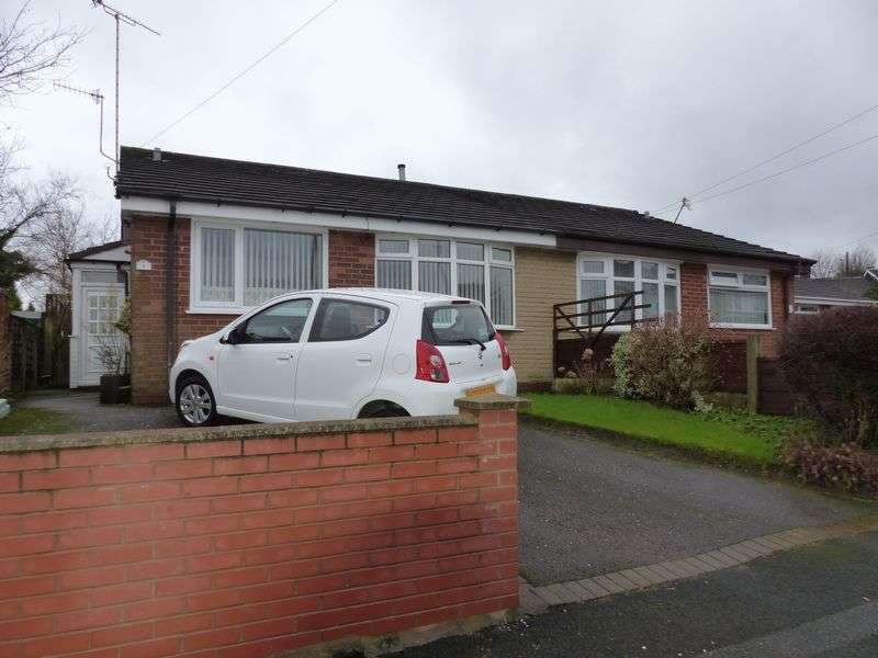 2 Bedrooms Semi Detached Bungalow for sale in Ebor Close, High Crompton, Shaw