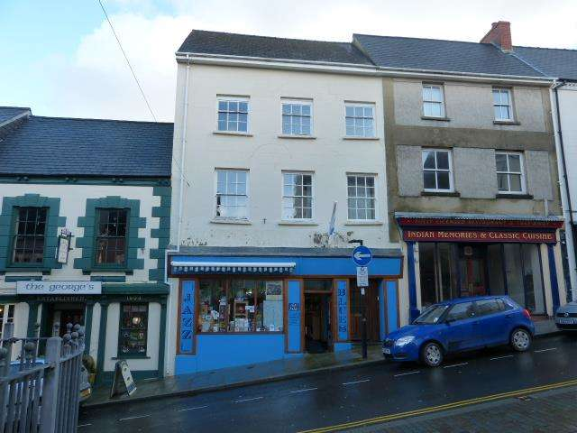 Retail Property (high Street) Commercial for sale in Music Shop & Flats, Market Street, Haverfordwest, Pembrokeshire