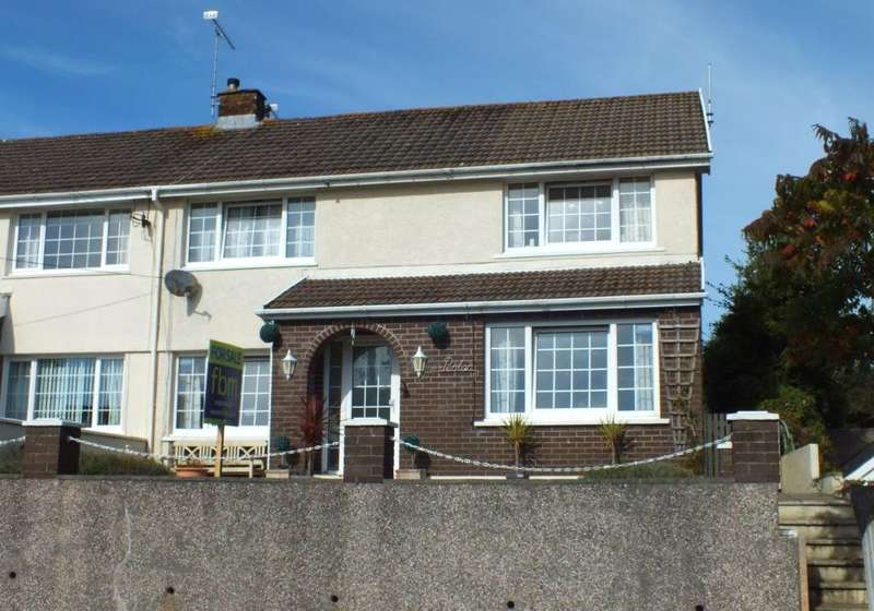 4 Bedrooms Semi Detached House for sale in Penlan, The Ridgeway, Saundersfoot, Pembrokeshire