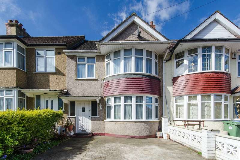 3 Bedrooms Terraced House for sale in Woodside Avenue, Alperton, HA0