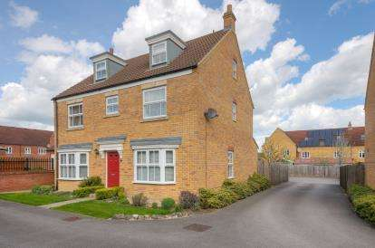 5 Bedrooms Detached House for sale in Gala Close, Bedford, Bedfordshire