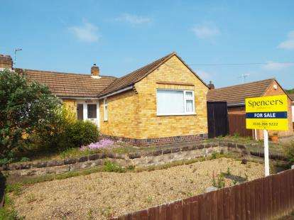 2 Bedrooms Bungalow for sale in Brixham Drive, Wigston, Leicester, Leicestershire