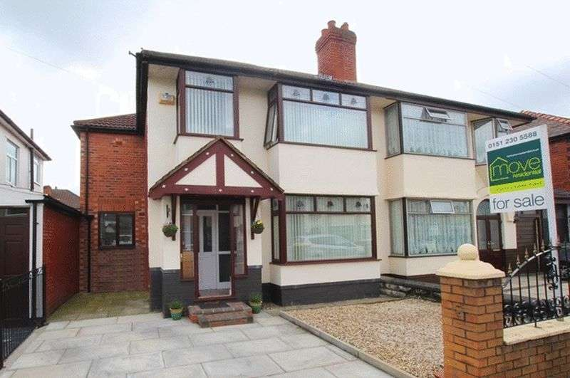 4 Bedrooms Semi Detached House for sale in Eaton Gardens, West Derby, Liverpool, L12