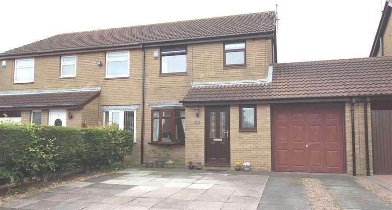 3 Bedrooms Semi Detached House for sale in Hazelmere Crescent, Eastfield Glade, Cramlington
