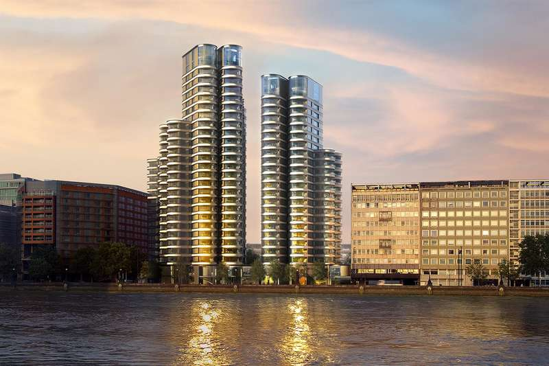3 Bedrooms Flat for sale in The Corniche, Tower Two, 20 Albert Embankment, London, SE1