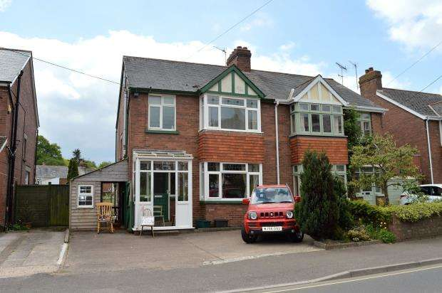 3 Bedrooms Semi Detached House for sale in Western Road, Crediton, Devon