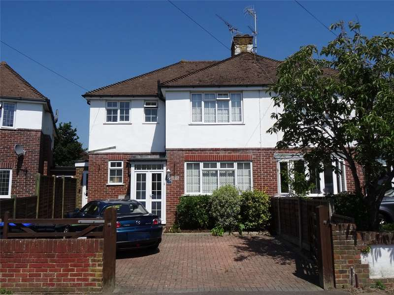 3 Bedrooms Semi Detached House for sale in Broomfield Avenue, Tarring, Worthing, BN14