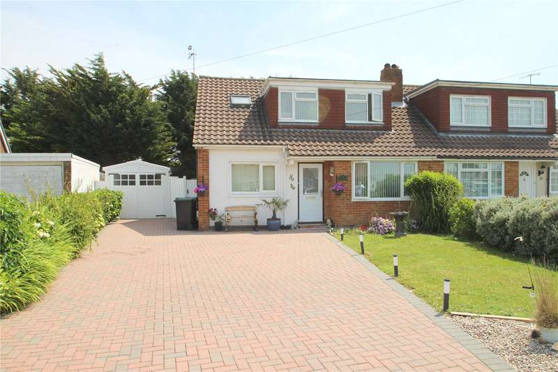 4 Bedrooms Semi Detached House for sale in Thirlmere Crescent, Sompting, West Sussex, BN15