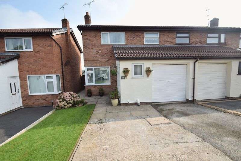 3 Bedrooms Semi Detached House for sale in Oakwood Court, Rhostyllen, Wrexham