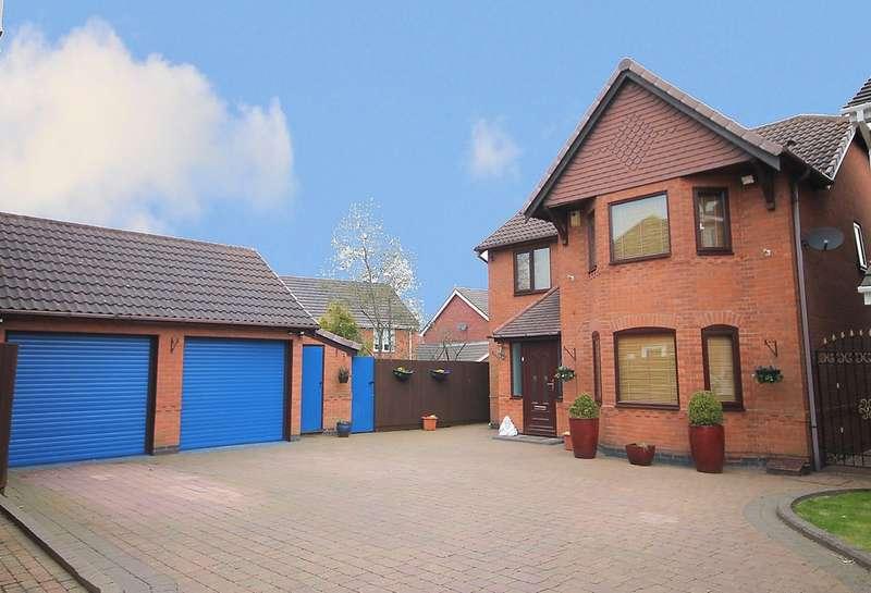 4 Bedrooms Detached House for sale in Celandine, Kettlebrook, Tamworth, B77 1BQ