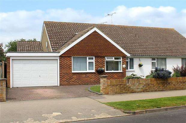 3 Bedrooms Semi Detached Bungalow for sale in Highdown Drive, Littlehampton, West Sussex, BN17