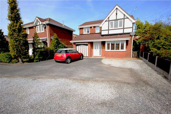 4 Bedrooms Detached House for sale in Calrofold Drive, Waterhayes Village, Newcastle-under-Lyme