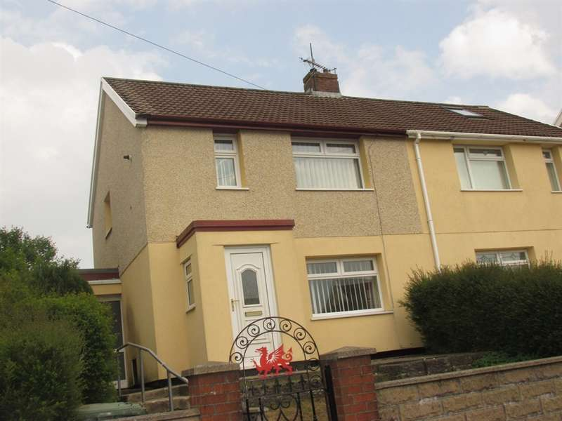 2 Bedrooms Semi Detached House for sale in Heol Y Bryn, Fochriw, Bargoed