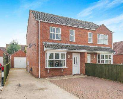 2 Bedrooms Semi Detached House for sale in Tothby Meadows, Alford, Lincolnshire, England
