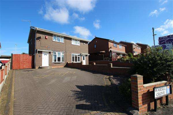 2 Bedrooms Semi Detached House for sale in Warsill Grove, Meir Hay, Stoke-on-Trent