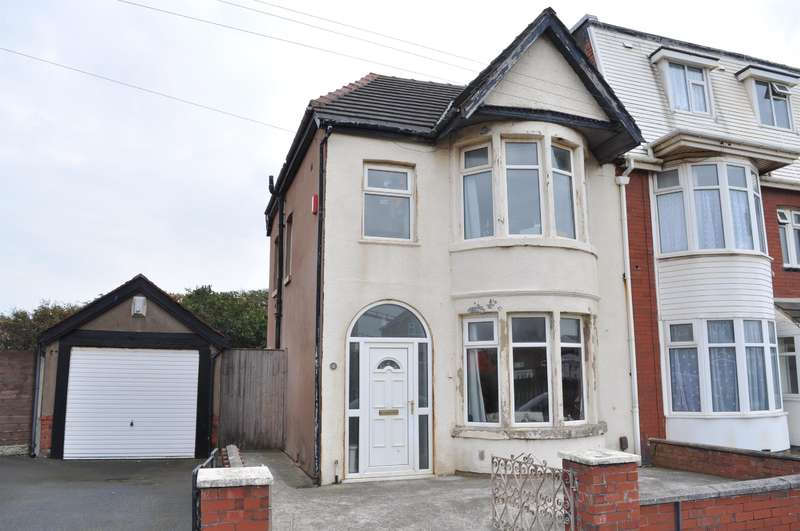 3 Bedrooms Semi Detached House for sale in Ventnor Road, South Shore, Blackpool, FY4 1JN