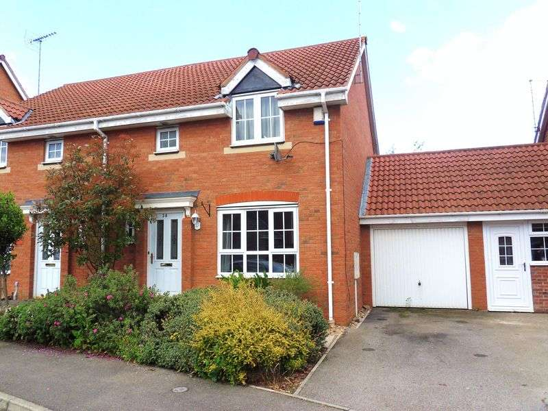 3 Bedrooms Semi Detached House for sale in Buttercup Close, Oakley Vale, Corby