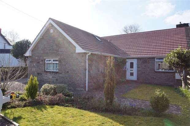 3 Bedrooms Semi Detached Bungalow for sale in Common Road,, Abergavenny, Monmouthshire