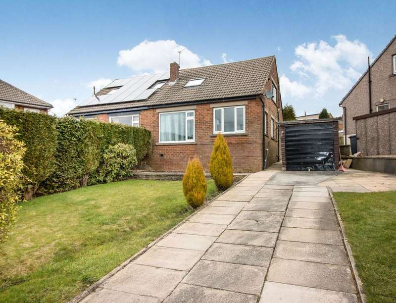 3 Bedrooms Semi Detached Bungalow for sale in Weston Vale Road, Queensbury, BRADFORD, BD13