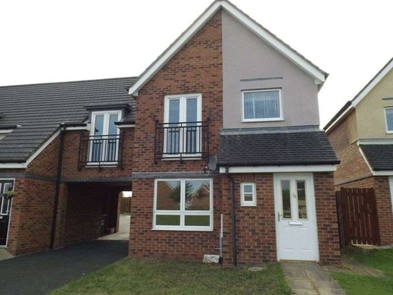 3 Bedrooms Semi Detached House for sale in Hindmarsh Drive, Ashington - Three Bedroom House
