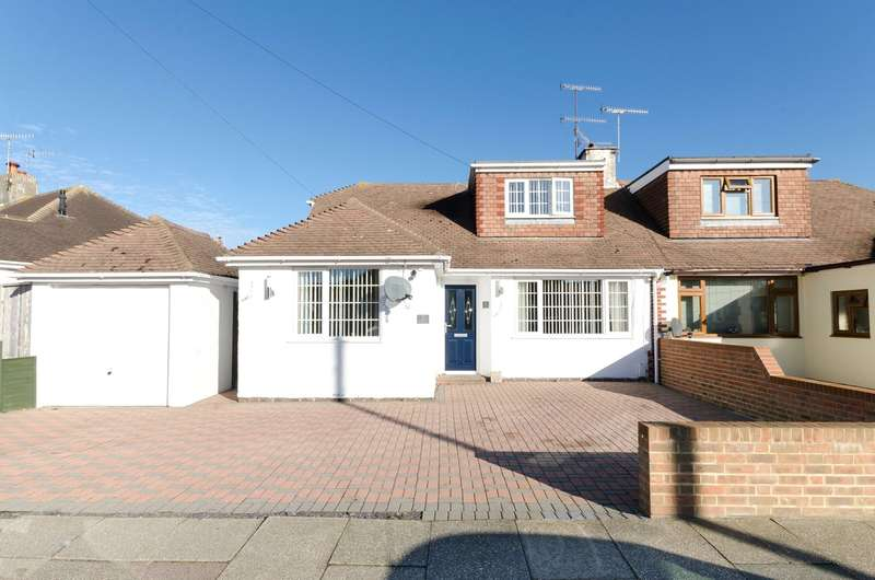 4 Bedrooms Semi Detached Bungalow for sale in Ingleside Crescent, Lancing, West Sussex, BN15