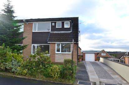 3 Bedrooms Semi Detached House for sale in Lower Mead Drive, Burnley, Lancashire, BB12