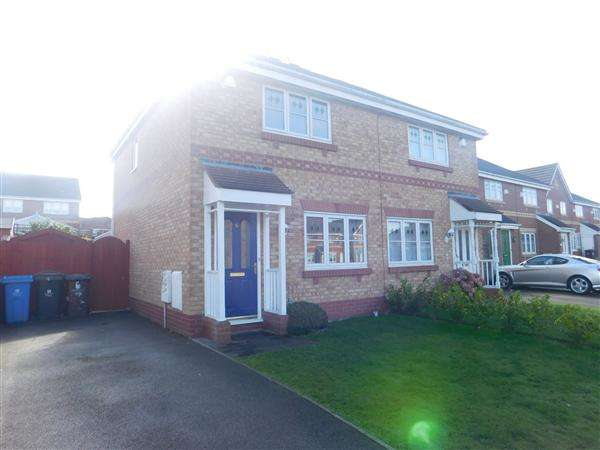 3 Bedrooms Semi Detached House for sale in Elwood Close, Kirkby