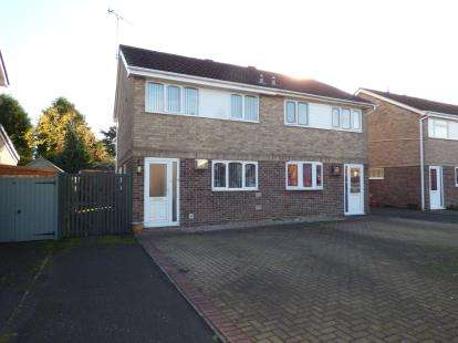 3 Bedrooms Semi Detached House for sale in Harwood Avenue, Branston, Burton-On-Trent, Staffordshire