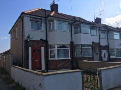 3 Bedrooms End Of Terrace House for sale in River Way, Luton, Bedfordshire, Leagrave