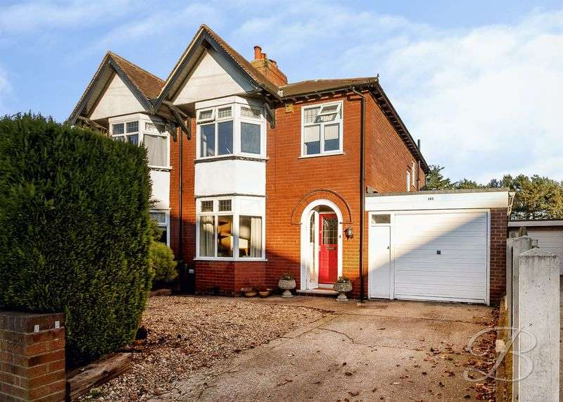 3 Bedrooms Semi Detached House for sale in Berry Hill Road, Mansfield.