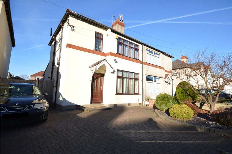 3 Bedrooms Semi Detached House for sale in Ridgetor Road, Woolton, Liverpool, L25