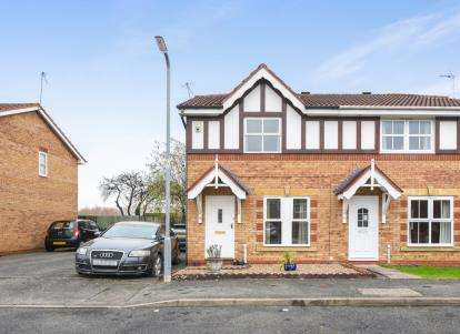 3 Bedrooms Semi Detached House for sale in Larkspur Drive, Evesham, Worcestershire, .
