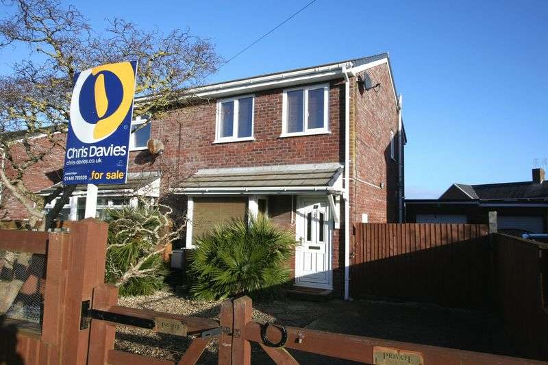 3 Bedrooms Semi Detached House for sale in Picketston Close, St Athan