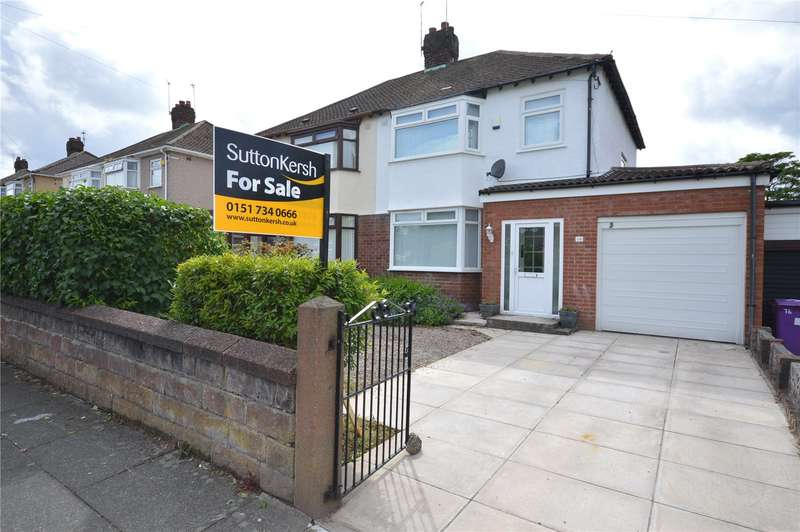 3 Bedrooms Semi Detached House for sale in Kings Drive, Woolton, Liverpool, L25
